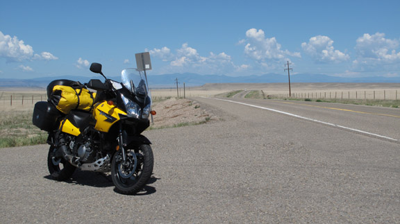 Suzuki V-Strom on the Santa Fe Trail, New Mexico